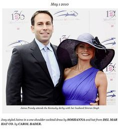 Jaime Pressly and husband Simran Singh lookin' good at the Kentucky Derby!