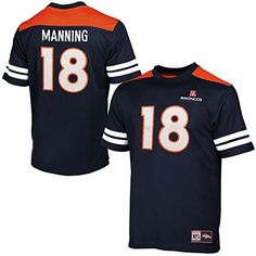 Fan Apparel & Souvenirs Peyton Manning Indianapolis Colts #18 Boys L Reebok White Mesh Football Jersey In Pain