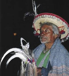 Pancho, a marakami, or priest, of the Huichols - one of the peoples who were key to investigating the shamans and other traditional healers of the Last of the Medicine Men project. NW Mexico.    © Benedict Allen
