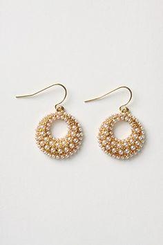 Anthropologie Urchin's shell earrings
