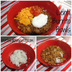 Lentil Burrito Bowls | lovebirdlovenest.com