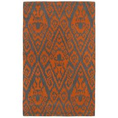 Kaleen Evolution EVL02-89 Orange Wool Area Rug -