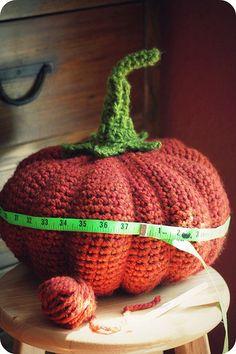 Another crocheted pumpkin