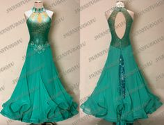 Gorgeous standard ballroom dress!!!! Can't wait to get to the level where you wear these types of costumes!!!