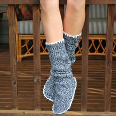 The Easiest Slipper Booties You Will Ever Make             Made from old sweater