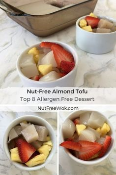 Almond Jelly, Almond Tofu, Almond Pudding...no matter what you call it, this nut-free almond tofu gelatin based dessert is so good. But how does someone with a nut allergy safely enjoy Almond Tofu?