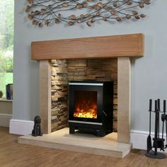 Living Room Layout With Wood Stove - Celsi Electristove XD Glass 1 Electric Stove. Electric Log Burner, Electric Wood Stove, Electric Stove Fireplace, Oak Beam Fireplace, Log Burner Fireplace, Electric Fires, Diy Fireplace, Wood Burner, Fireplace Design