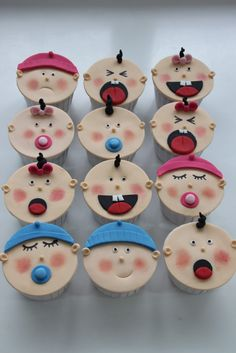 Celebrate with Cake!: Baby Faces Cupcakes
