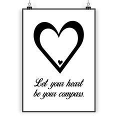 Poster DIN A3 Herz aus Papier 160 Gramm  weiß - Das Original von Mr. & Mrs. Panda.  Jedes wunderschöne Poster aus dem Hause Mr. & Mrs. Panda ist mit Liebe handgezeichnet und entworfen. Wir liefern es sicher und schnell im Format DIN A3 zu dir nach Hause.    Über unser Motiv Herz  Wir haben etwas auf dem Herzen, können jemanden ins Herz schließen, mit ihm ein Herz und eine Seele sein oder jemanden das Herz brechen. Das Symbol Herz, steht nicht nur für die Liebe, sondern auch für Leben. Das…