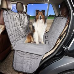 hapyfost dog seat cover waterproof hammock car bench seat cover for pets  u003e u003e u003e continue tan rear seat hammock for dogs  u0026 pets   msc   pinterest   pet car      rh   pinterest