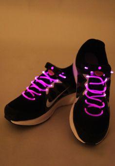 Pink Led Laces - Tcs World 10k Bengaluru Women footwear