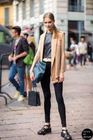Milan FW SS15 Street Style: Tanya Katysheva