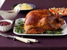 World's Simplest Thanksgiving Turkey : The name says it all. This is the simplest turkey you'll ever make, courtesy of Food Network Magazine. Take it easy! Thanksgiving Turkey Dinner, Best Thanksgiving Recipes, Gluten Free Thanksgiving, Holiday Recipes, Dinner Recipes, Thanksgiving 2017, Thanksgiving Treats, Christmas Desserts, Fall Recipes