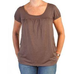 Camiseta manga corta Premamá y Lactancia Marrón