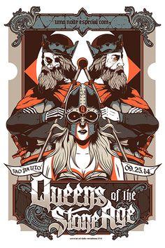 Queens of the Stone Age (Sao Paulo, Brazil). Poster design: Wes Art Studio…