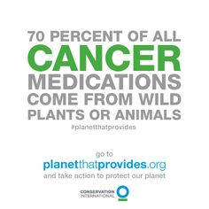 For some people, medicine from nature is the difference between life and death. Let's protect the planet that provides.