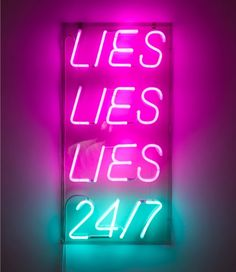 'Special offer (lies)' Neon, 2010 by artist Paolo Fumagalli