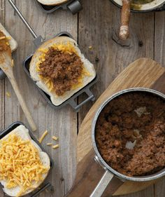 Not sure the link works, but cheese and taco meat sounds like a good combo for a pudgy pie!