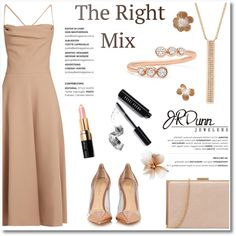 The right mix/JRDUNN by helenevlacho on Polyvore featuring moda, Valentino, Gianvito Rossi, EF Collection, Bobbi Brown Cosmetics, Dunn, contestentry, layering, Mixing and JRDunn
