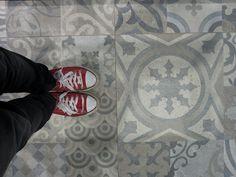 cafelab su piastrelle stile cementine, by Porcelanosa a Cersaie 2014