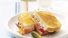 Upgrade your typical BLT with this grilled version, jazzed up with turkey and melted Cheddar cheese. Prepared dressing and cooked turkey breast make it go together fast.