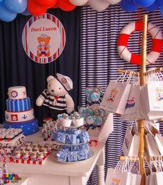 - Victoria Decoração Infantil -: Urso marinheiro - Davi Lucca