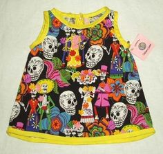 Day of the Dead Baby/Toddler Dress $36.95
