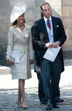 Prince William and Catherine, Duchess of Cambridge at the wedding of Zara Phillips & Mike Tindall