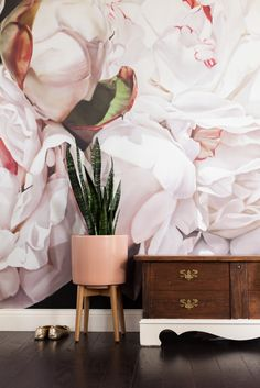 Athena walked into West Elm intending to purchase this planter in white. It was out of stock and she took it as a sign that pink was the way to go.