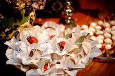 Forminhas de doces finos: Forminha flor de maracujá