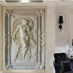 The Wall Mural Graffiti Custom Mural Wallpaper European Style Stereoscopic Art Relief Angel Nude Statue Entrance Hallway Corridor Glitter Wallpaper online shopping - Wouldtopshopping Custom Wallpaper, Of Wallpaper, Photo Wallpaper, Statues, 3d Art, Wall Murals, Wall Art, Cleaning Walls, Glitter Wallpaper