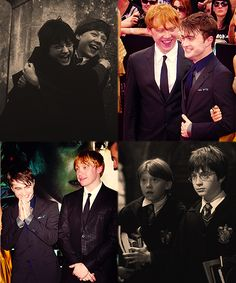 """""""The only reason Rupert and I have probably never argued is that he's the most totally laidback person you'll ever meet. You could probably set fire to him and he wouldn't really mind."""" -Daniel Radcliffe o-o"""