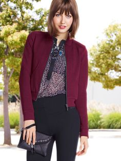 Fall must have: Skinny knit pants and Jacket