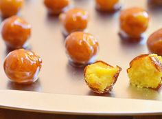 Yema are Filipino candies made with a custard center covered with a caramel shell