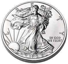 American Eagle silver bullion coin (obverse).