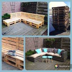 Lounge bank van pallets voor in de tuin!