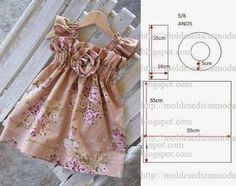 Trendy sewing ideas for girls to make fun Ideas Doll Clothes Patterns, Sewing Clothes, Clothing Patterns, Diy Clothes, Dress Patterns, Dress Sewing, Sewing For Kids, Baby Sewing, Sewing Ideas