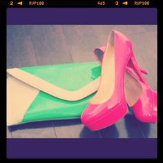 In love with Neon! Plus the shoes are CL...nice...