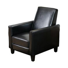 Best Selling Home Decor Darvis Bonded Leather Recliner Club Chair