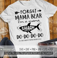 09316646 Mama Shark Svg Do-Do-Do-Do Svg Mommy Shirt Svg Mom of Boy, Girl, Mother's  Day Svg Cut File for Cricut, Silhouette, Iron on Printable Image