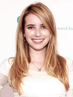 Emma Roberts side bangs
