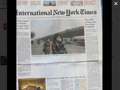 Un blanc à la place d'un article en une du New York Times !!! • Hellocoton.fr