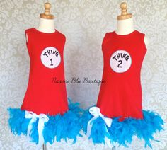 Juniors Red Dr Seuss The Cat in the Hat Thing 1 Character Tunic Tank Dress