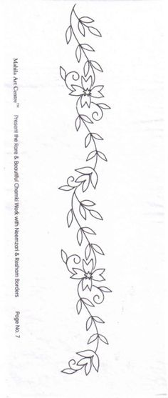 Tambour Embroidery, Ribbon Embroidery, Embroidery Art, Cross Stitch Embroidery, Machine Embroidery, Border Embroidery Designs, Hand Embroidery Patterns, Quilting Designs, Flower Patterns
