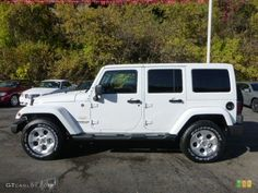 2013 jeep wrangle unlimited images | Bright White 2013 Jeep Wrangler Unlimited Sahara 4x4 Exterior Photo ...