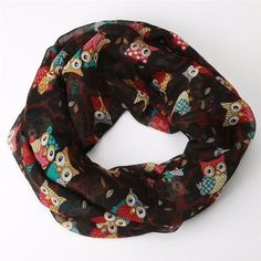 Scarf - Owl Pattern Print (Available in 9 Colors)