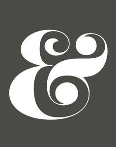 "Grey Ampersand Giclee Art Print - 11 x 14 - ""FACTORY SECOND"""