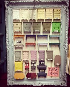 English Stockist Milly and Roses, uses painted dolls' house furniture as her colour chart!