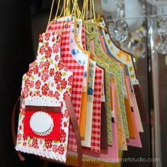 Paper Apron:  Template download link at bottom of their blog post.