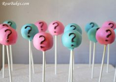 Gender Reveal Cake Pops | Gender Reveal Cake Pops